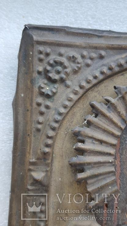 Икона Спаситель в окладе бронза, фото №13