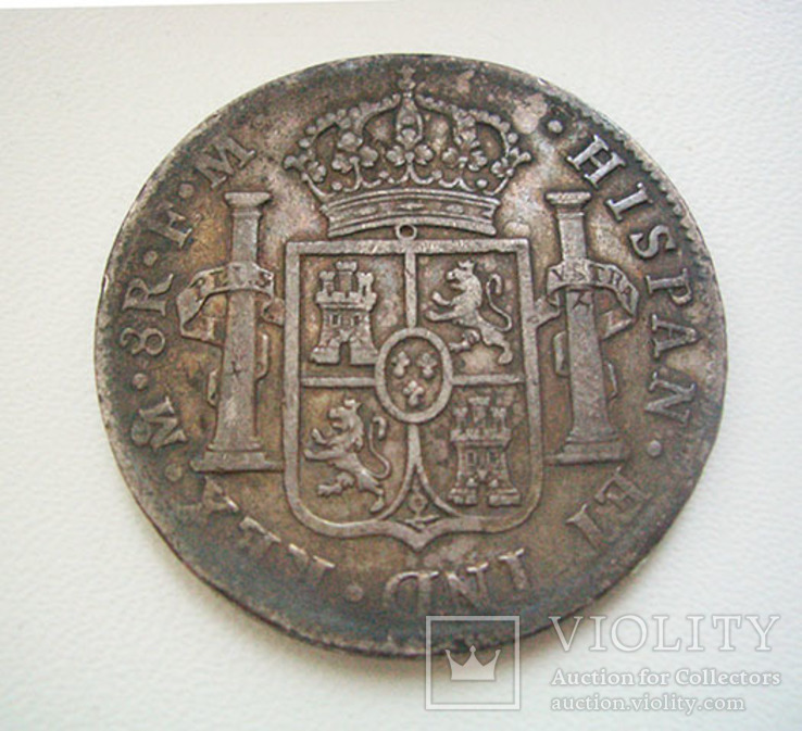Испанские колонии, Мексика: 8 реалов 1799 года, фото №3