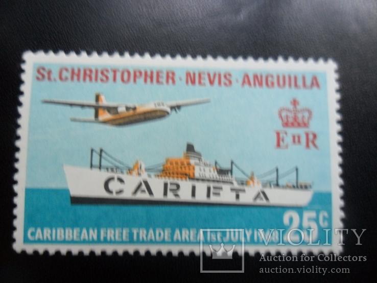 Авиация. Сент-Кристофер. 1968 г.  MNH, фото №2