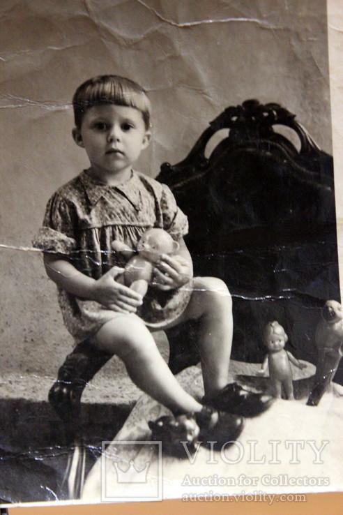 Фото ребенка с игрушками СССР. Кукла СССР. 1951 год, фото №5