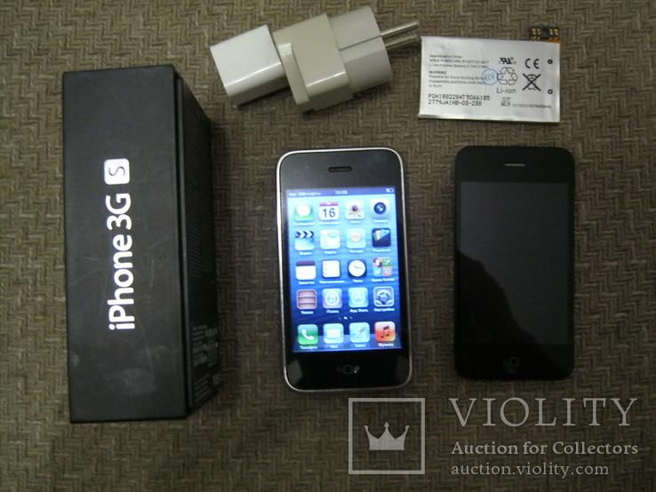 Телефон Apple iPhone 3gs 8GB + запасной блок дисплея и батарея, фото №4