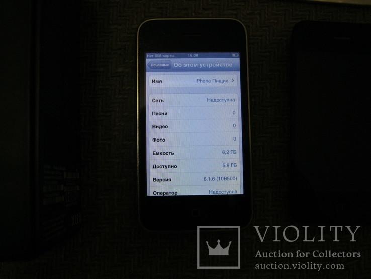 Телефон Apple iPhone 3gs 8GB + запасной блок дисплея и батарея, фото №5