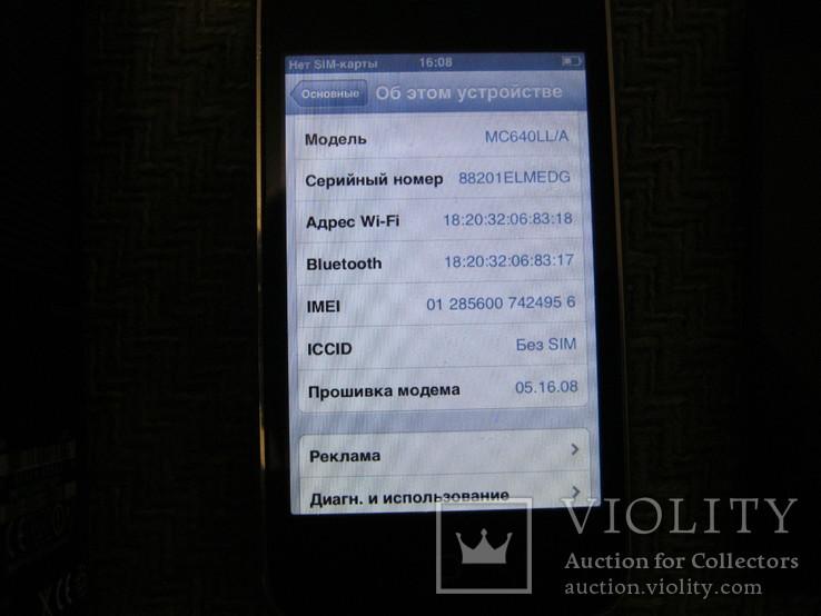 Телефон Apple iPhone 3gs 8GB + запасной блок дисплея и батарея, фото №6