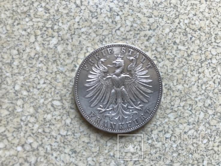 Талер-1862р.Франкфурт., фото №3