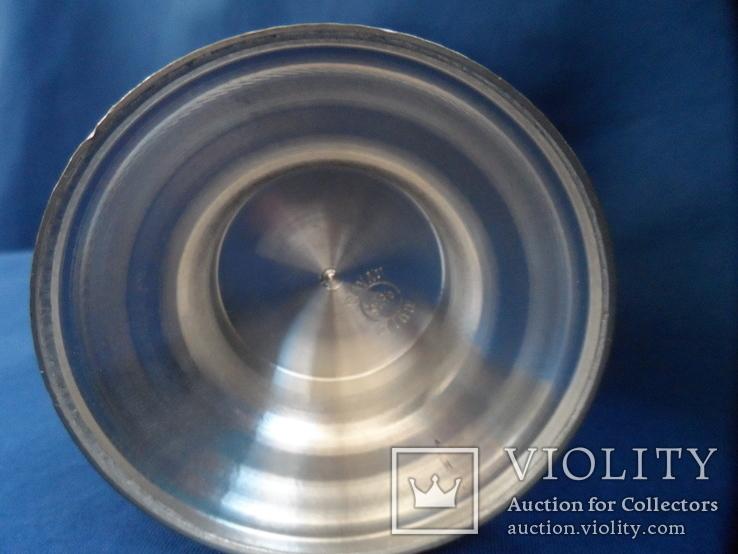 Коллекционная пивная  кружка Охота Олово Германия Клеймо, фото №11