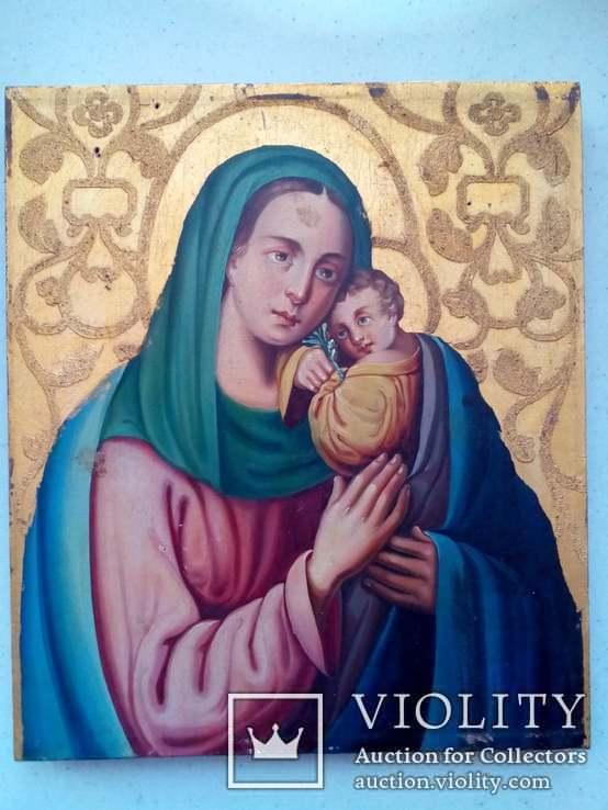 Старовинна ікона Божа матір Невянучий цвіт, фото №2