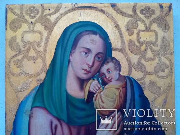 Старовинна ікона Божа матір Невянучий цвіт, фото №3