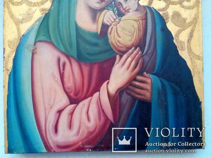 Старовинна ікона Божа матір Невянучий цвіт, фото №5