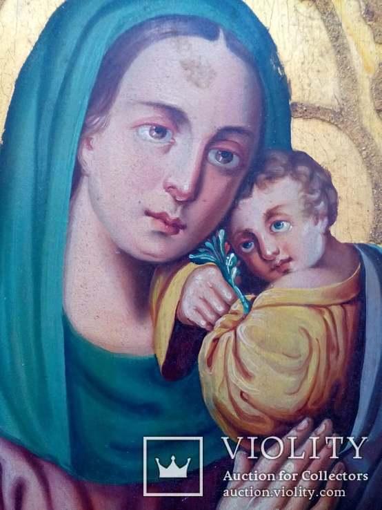 Старовинна ікона Божа матір Невянучий цвіт, фото №6
