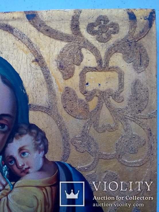 Старовинна ікона Божа матір Невянучий цвіт, фото №8