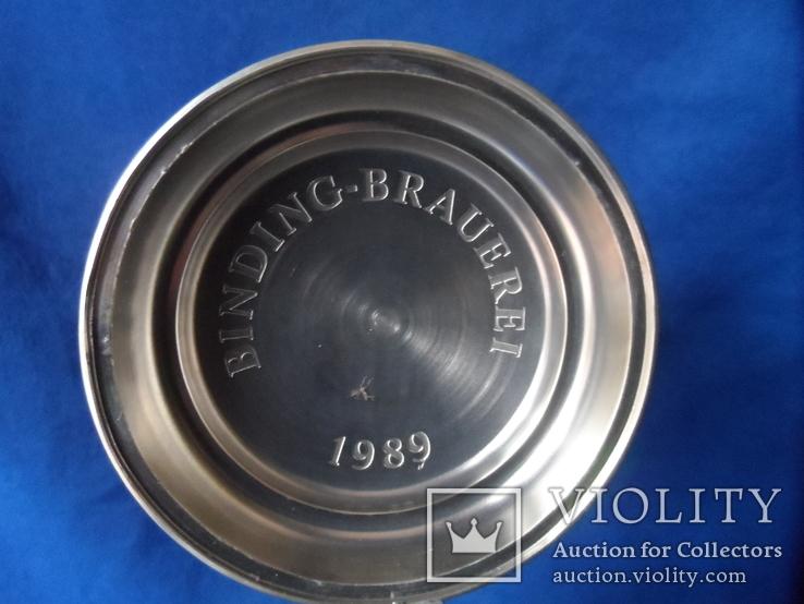 Коллекционная пивная кружка Керамика олово 1,1 L W - Germany, фото №8