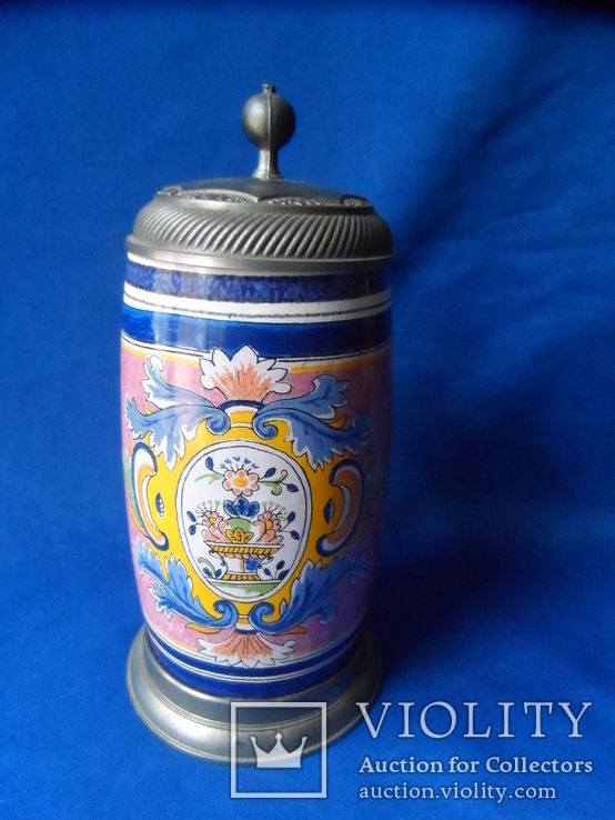 Коллекционная пивная кружка Керамика олово 1,1 L W - Germany, фото №12
