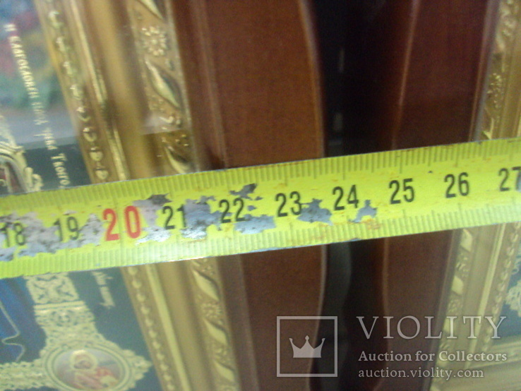 Иконы венчальная пара новые 26,5 х 23,7 см лот, фото №4