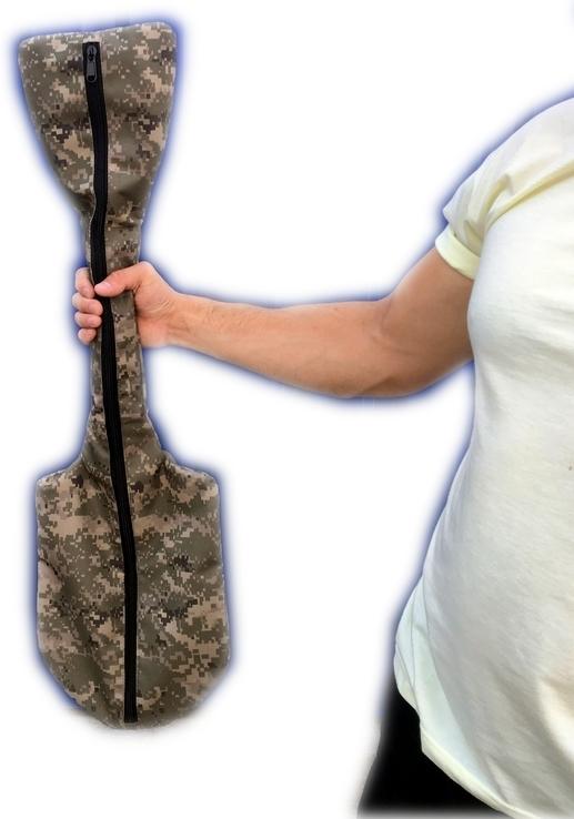 Лопата Fiskars Solid 131417 Саперка (Новая Ручка 2018) + Чехол ПИКСЕЛЬ 85 см, фото №13