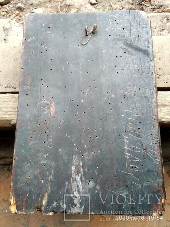 Старинная икона Николай Чудотворец под реставрацию, фото №8