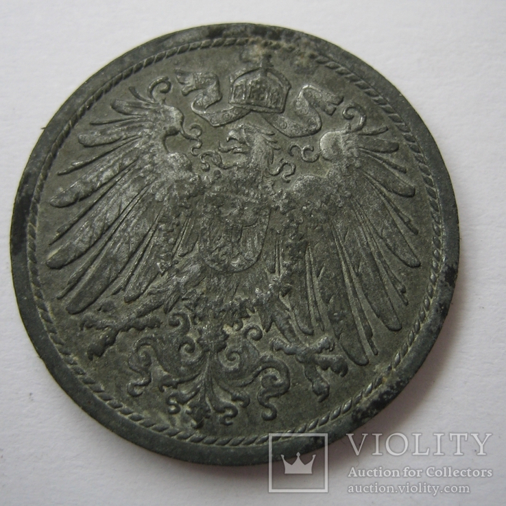 Германия 10 пфеннигов 1918 года., фото №9