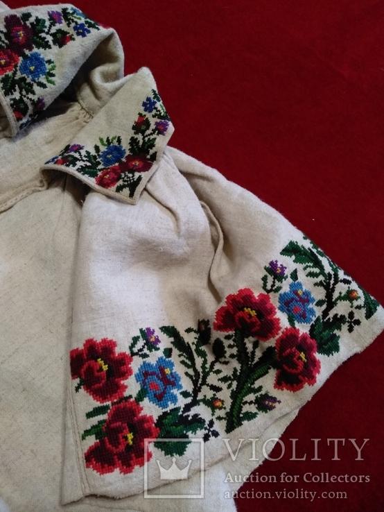 Незакінчена сорочка ,яка ще не була зшита вишиванка, фото №3