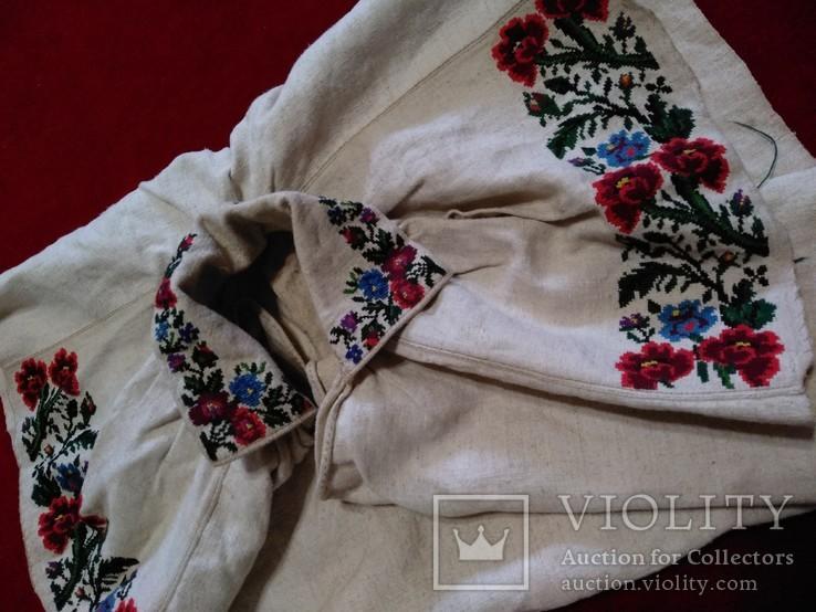 Незакінчена сорочка ,яка ще не була зшита вишиванка, фото №4