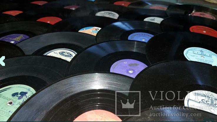 """Граммпластинки ссср. 10"""", 78 об/мин. Моно. Лот 1. Песни на разных языках, фото №3"""