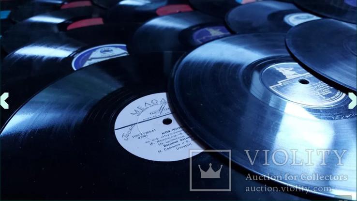 """Граммпластинки ссср. 10"""", 78 об/мин. Моно. Лот 1. Песни на разных языках, фото №4"""