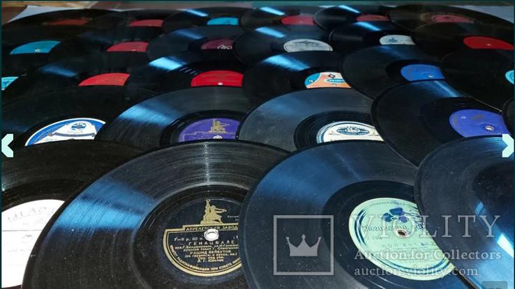 """Граммпластинки ссср. 10"""", 78 об/мин. Моно. Лот 1. Песни на разных языках, фото №5"""