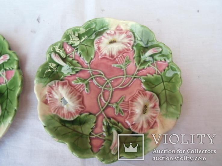 Старинные настенные тарелки майолика пара, фото №4