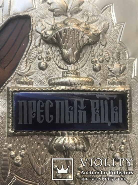 Икона «Знамение» в медно-бронзовом окладе 38*32, фото №8