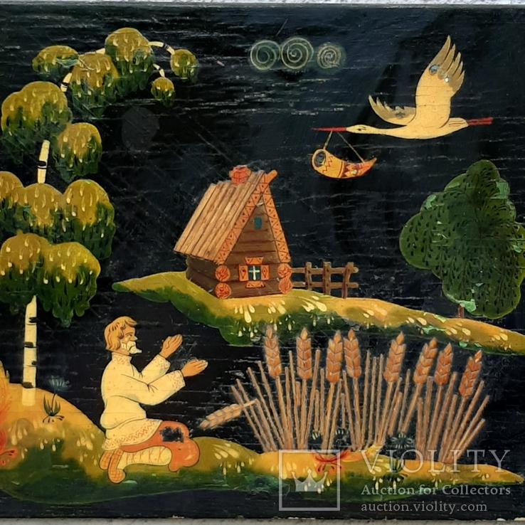 Картина на фанере в стиле Палех или Лубок., фото №2