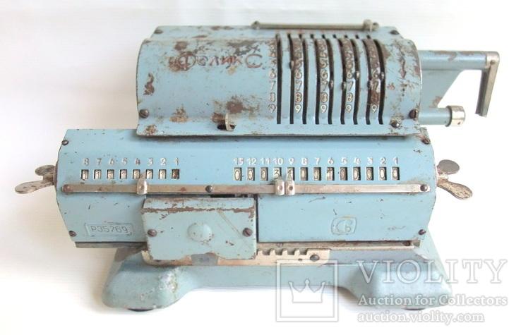 Арифмометр ФЕЛИКС механическая вычислительная машина., фото №3