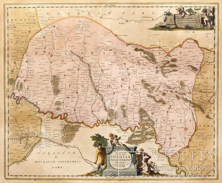 Карта України фр. картографа Гійома де Боплана.