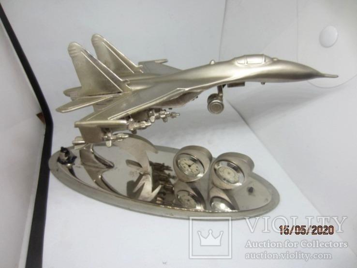 Model военный самолет настольные Су-30 бронза