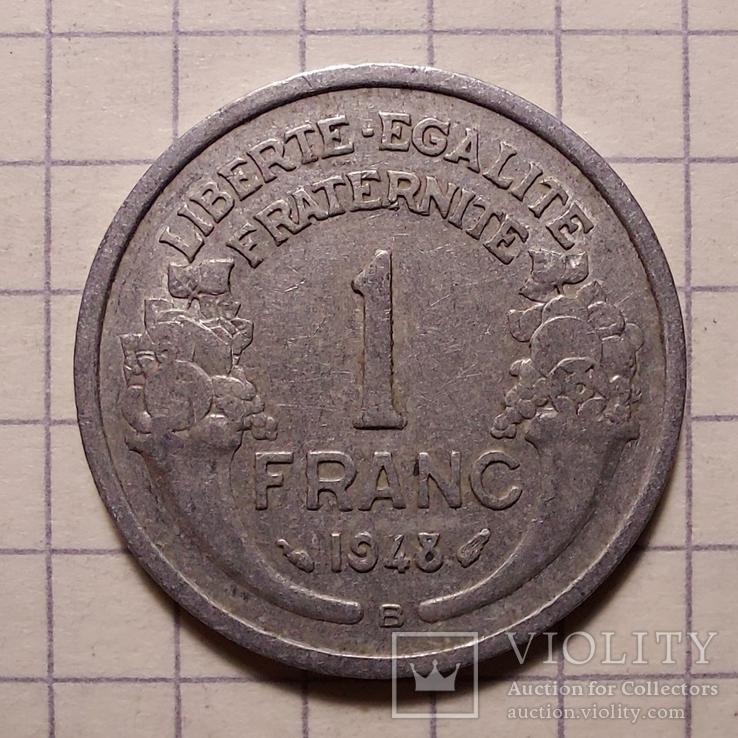 Франция. 1 франк 1948, фото №3