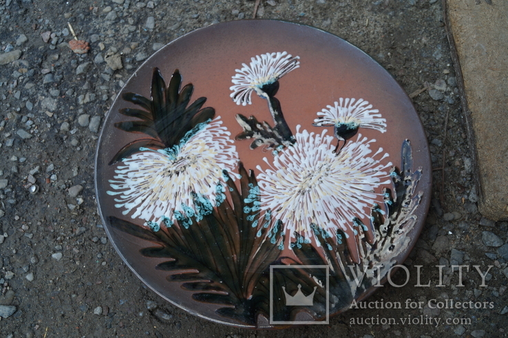 Настенная тарелка ЛКСФ цвети