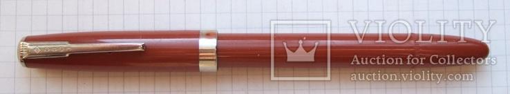 Перьевая ручка АР-24 Союз с гофронасосом. Перо с напайкой. Пишет очень мягко и насыщенно., фото №3