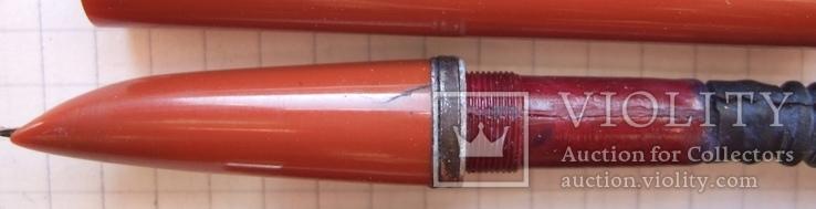 Перьевая ручка АР-24 Союз с гофронасосом. Перо с напайкой. Пишет очень мягко и насыщенно., фото №9