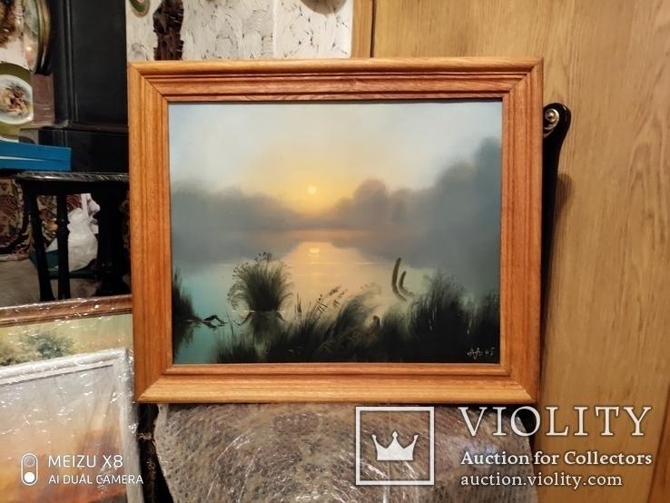 Картина в раме,пейзаж,холст ,масло худ Алатарцев, фото №2