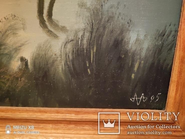 Картина в раме,пейзаж,холст ,масло худ Алатарцев, фото №5