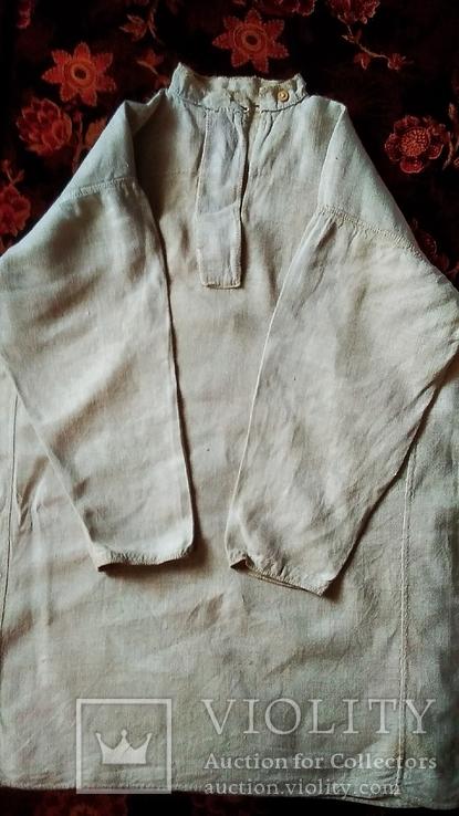 Мужская полотняная сорочка, фото №2