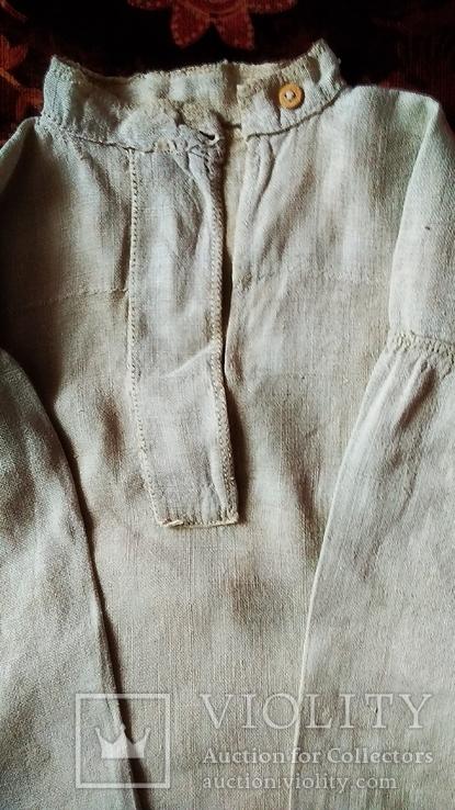 Мужская полотняная сорочка, фото №3