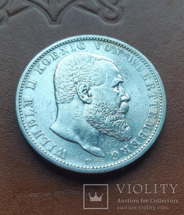 5 марок 1903 р. Вюртемберг, фото №3