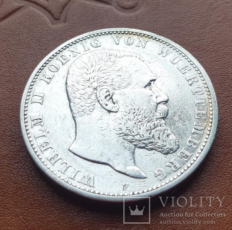5 марок 1903 р. Вюртемберг, фото №2