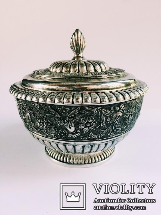 Блюдо для икры / покрытие серебром /., фото №3