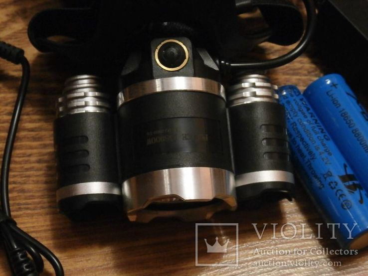 Налобный аккумуляторный фонарь Bailong Police RJ 3000 T6 3 Led, фото №4