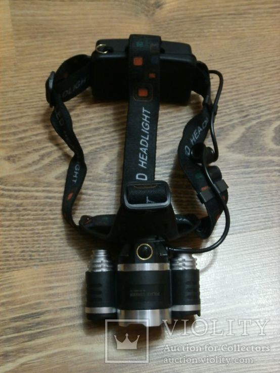 Налобный аккумуляторный фонарь Bailong Police RJ 3000 T6 3 Led, фото №5