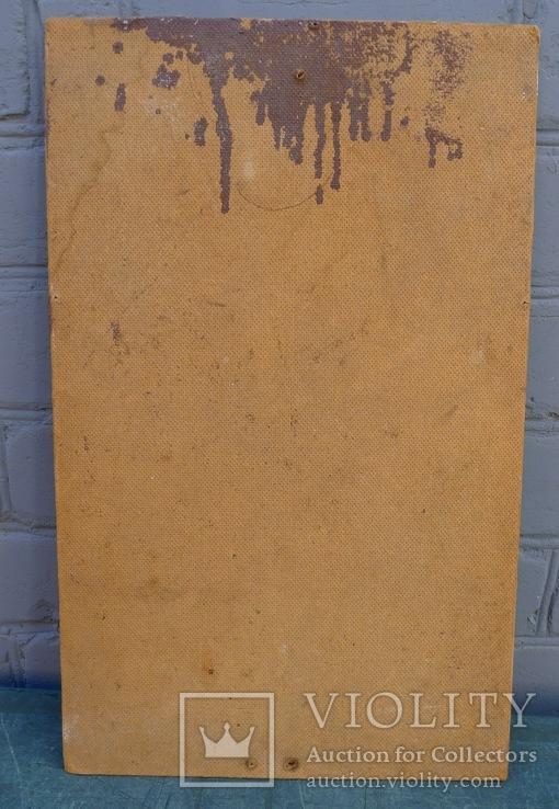 Старинная литография Иисус Христос. Размер 32 х 52 см., фото №7