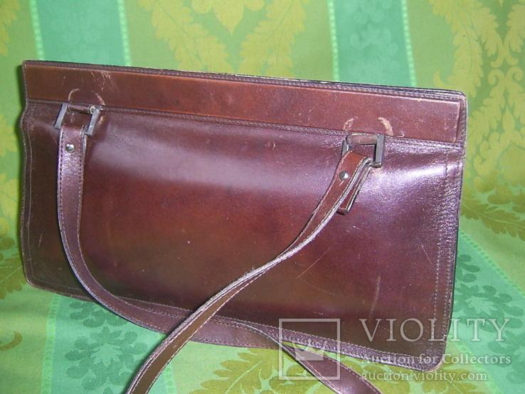 Сумка- клатч кожаная старинная брендовая Etienne Aigner, фото №4
