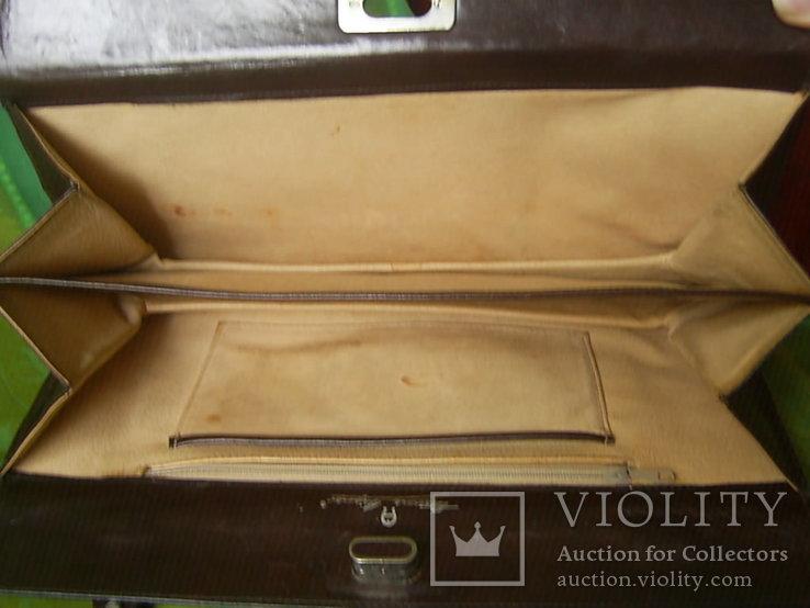 Сумка- клатч кожаная старинная брендовая Etienne Aigner, фото №10