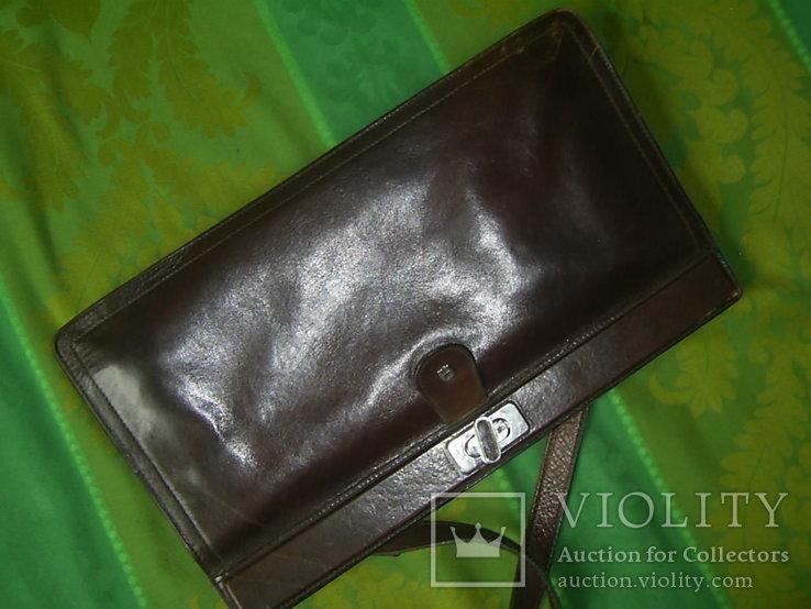 Сумка- клатч кожаная старинная брендовая Etienne Aigner, фото №11