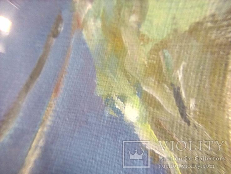 /Поль Гоген ''Хижина под пальмами''/ . Масло. Холст. 39.5х40.5 см. Худ. Коленько Н.А. Копия., фото №5