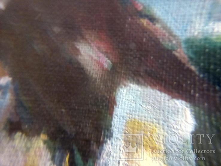 /Поль Гоген ''Хижина под пальмами''/ . Масло. Холст. 39.5х40.5 см. Худ. Коленько Н.А. Копия., фото №6